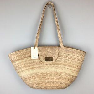 Handbags - NWT Oversized Trendy Straw Beach Bag Basket